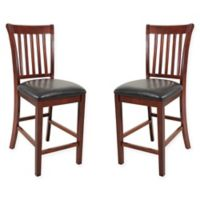 TTP Furnish Windsor Dining Chairs in Chestnut (Set of 2)