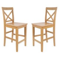 TTP Furnish X-Back Dining Chairs in Oak (Set of 2)