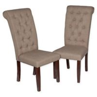 Ttp Furnish Dining Side Chairs in Espresso (Set of 2)