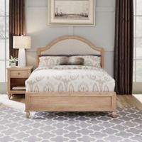 Home Styles Cambridge Queen Bed & Nightstand in White Wash