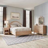 Home Styles Cambridge Queen Bed, Dresser w/ Mirror & Nightstand in White Wash