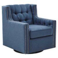 Madison Park Medley Swivel Glider Chair in Blue