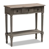 Baxton Studio Vince Console Table in Grey