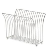 Taymor® Steel Magazine Rack in Satin Nickel