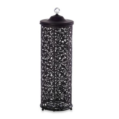 taymor lace steel 3roll toilet paper holder in oil rubbed bronze