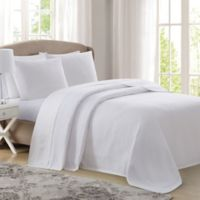 Charisma® Deluxe Woven Cotton Queen Blanket in White