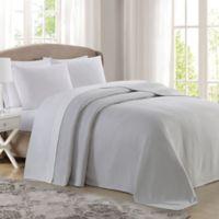 Charisma® Deluxe Woven Cotton Queen Blanket in Grey/Violet