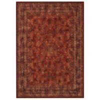 Couristan® Antique Kashan Burgundy/Navy 4-Foot 6-Inch x 6-Foot 6-Inch Indoor Rug