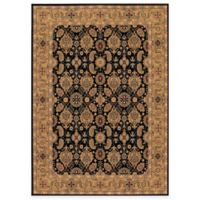 Couristan® All Over Vase Black 5-Foot 3-Inch x 7-Foot 6-Inch Rug