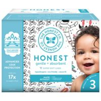 Honest 68-Pack Size 3 Diapers in Skulls & Space Travel Patterns