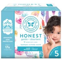 Honest 50-Pack Size 5 Diapers in Rose Blossoms & Feathers Patterns