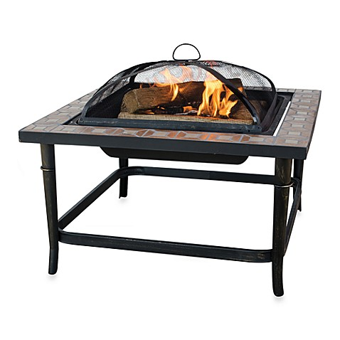 UniFlame® Outdoor 30-Inch Ceramic Tile Fire Pit