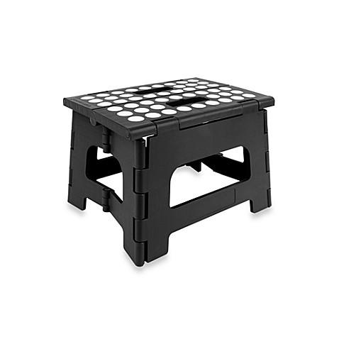 Kikkerland 174 Easy Folding Step Stool In Black Bed Bath
