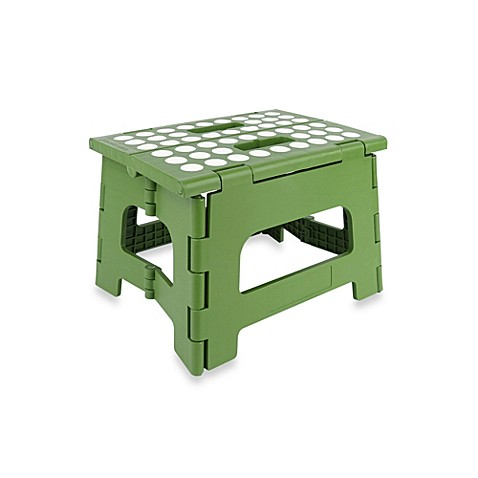 Kikkerland 174 Easy Folding Step Stool In Parrot Green Bed