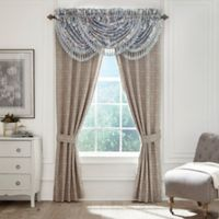Croscill® Emery 95-Inch Rod Pocket Window Curtain Panel Pair in Blue