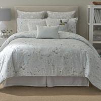 Anthea Reversible King Comforter Set in Ivory