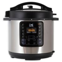 Kalorik® 6 qt. 10-in-1 Multi Use Pressure Cooker in Black/Stainless Steel