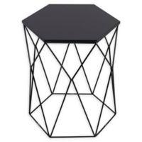 Serta® Element Round Side Table in Midnight Black