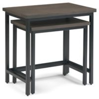Simpli Home™ Skyler 2-Piece Nesting Side Table in Walnut Brown