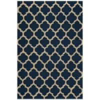 Dimensions 5-Foot x 7-Foot Hook Rug in Navy