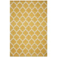 Dimensions 5-Foot x 7-Foot Hook Rug in Yellow