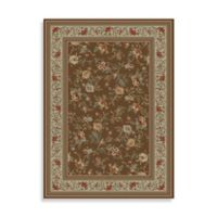 Concord Global Trading Ankara Floral Garden Brown 2-Foot 7-Inch x 4-Foot 1-Inch Rug