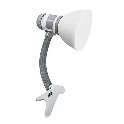 verilux smartlight clip lamp in white