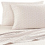 The Seasons Collection® King Flannel Sheet Set in Polka Dot