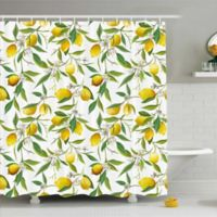 Ambesonne Lemons 69-Inch x 70-Inch Shower Curtain in Yellow