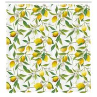 Ambesonne Lemons 69-Inch x 84-Inch Shower Curtain in Yellow