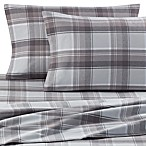 Palais Royale™ Portuguese Flannel Standard Pillowcase Pair in Grey Plaid (Set of 2)