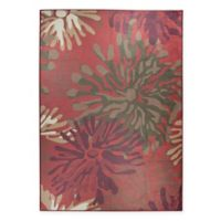RUGGABLE® Mum Floral 8' x 10' Flat-Weave Indoor/Outdoor Area Rug in Red