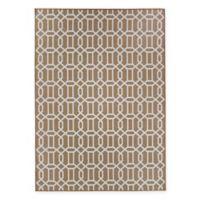 RUGGABLE® Modern Fretwork 3' x 5' Flat-Weave Indoor/Outdoor Area Rug in Tan