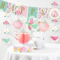 Creative Converting™ 15-Piece Floral Tea Party Birthday Party Decoration Kit