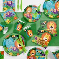 Creative Converting™ 81-Piece Jungle Safari Birthday Party Supplies Kit