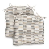Brentwood Originals Chaotic Oversized Memory Foam Chair Pads in Flax (Set of 2)