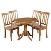 Kimberley 5-Piece Solid Wood Dining Set in Oak