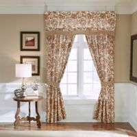 Croscill® Delilah 95-Inch Rod Pocket Window Curtain Panel Pair in Spice
