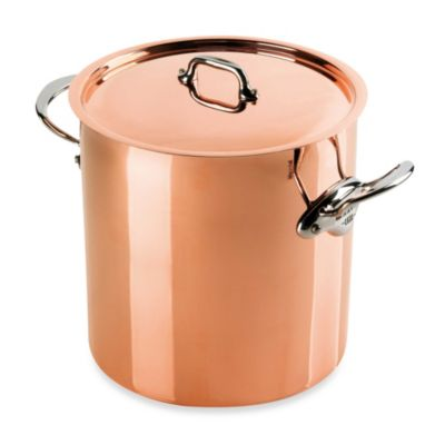 mauviel 150s copper 117 qt covered stock pot - Copper Pots