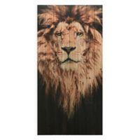 Lion Wood Wall Art