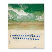 Kavka Designs 16-Inch x 20-Inch Overhead Beach Canvas Wall Art