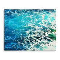 Kavka Designs 16-Inch x 20-Inch Ocean Blue Two Canvas Wall Art