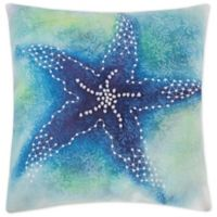 C&F Home™ Aqua Starfish Square Throw Pillow in Blue