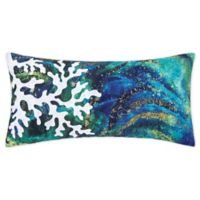 C&F Home™ Aqua Coral Oblong Throw Pillow in Blue