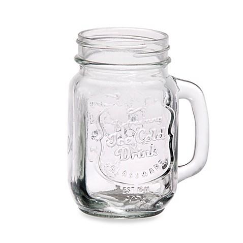 Impressions ice cold embossed mason jar glasses set of 4 bed bath beyond - Mason jar goblets ...