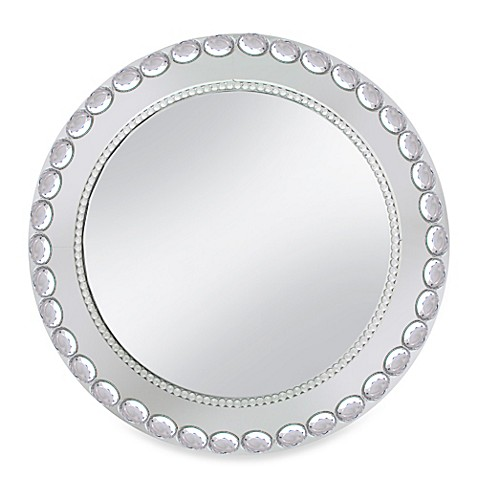 Chargeit! By Jay Mirror Big/Small Beads Charger Plates in Silver (Set of 4)