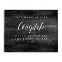 Complete 24-Inch x 36-Inch Canvas Wall Art in Black/White