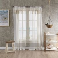 Coastal Life Capri 95-Inch Sheer Window Curtain Panel in Natural