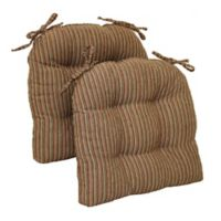Brentwood Originals Huntington Memory Foam Oversized Chair Pads in Canyon (Set of 2)
