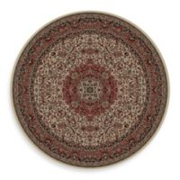 Concord Global Isfahan 5-Foot 3-Inch Round Rug in Ivory